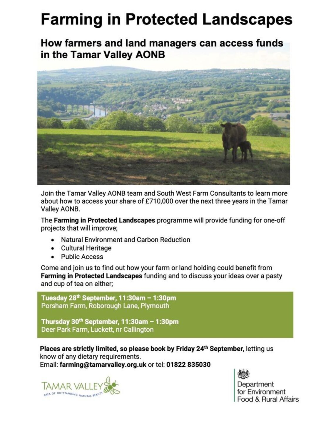 Tamara Landscape Partnership Farming Event